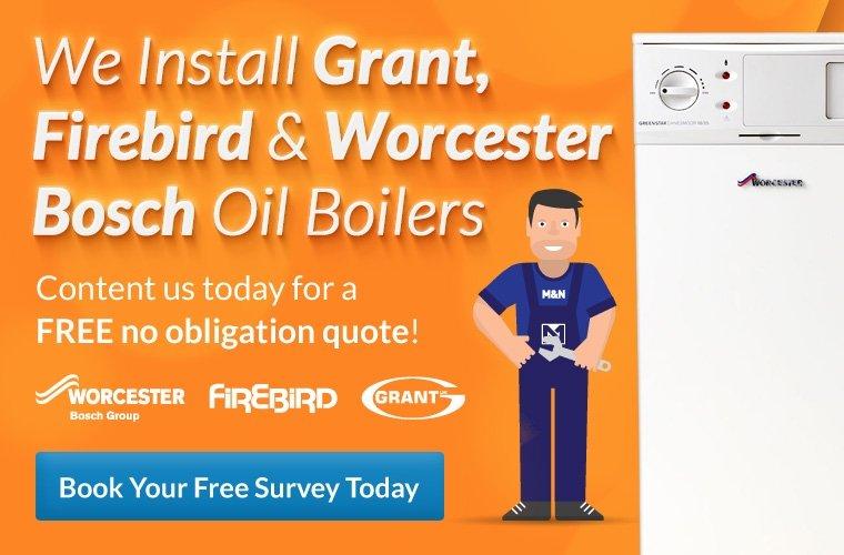 Grant, Firebird and Worchester Bosch Oil Boiler Installer